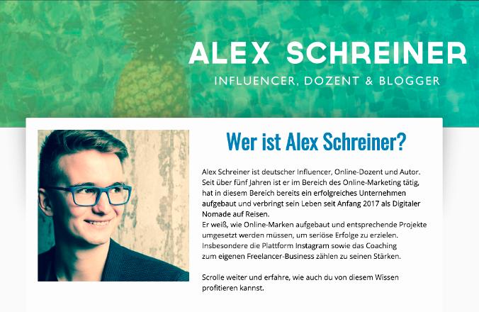 Nebenbei Freelancer Alex Schreiner